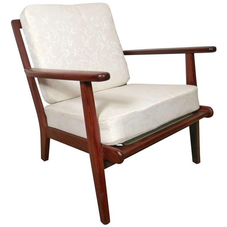 Petite mid century modern danish armchair at 1stdibs for Mid century modern armchairs