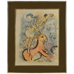 """Marc Chagall's """"Woman Circus Rider On A Red Horse"""" - 1957"""
