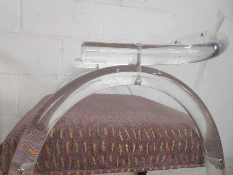 Vintage Lucite Rolling Chairs For Sale 1