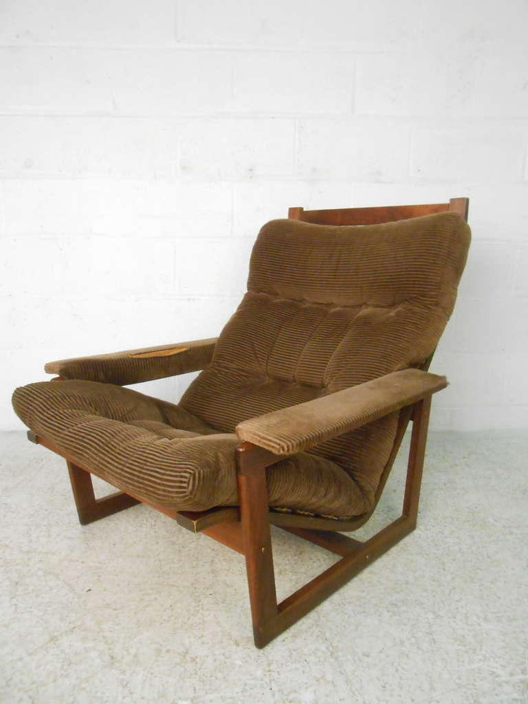 Mid Century Modern Chair And Ottoman Set For Sale At 1stdibs