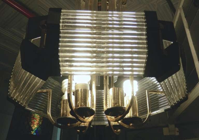 Sciolari Style Mid-Century Modern Glass Chandelier For Sale 3