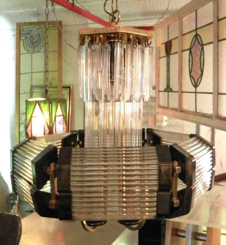 Sciolari Style Mid-Century Modern Glass Chandelier For Sale 4