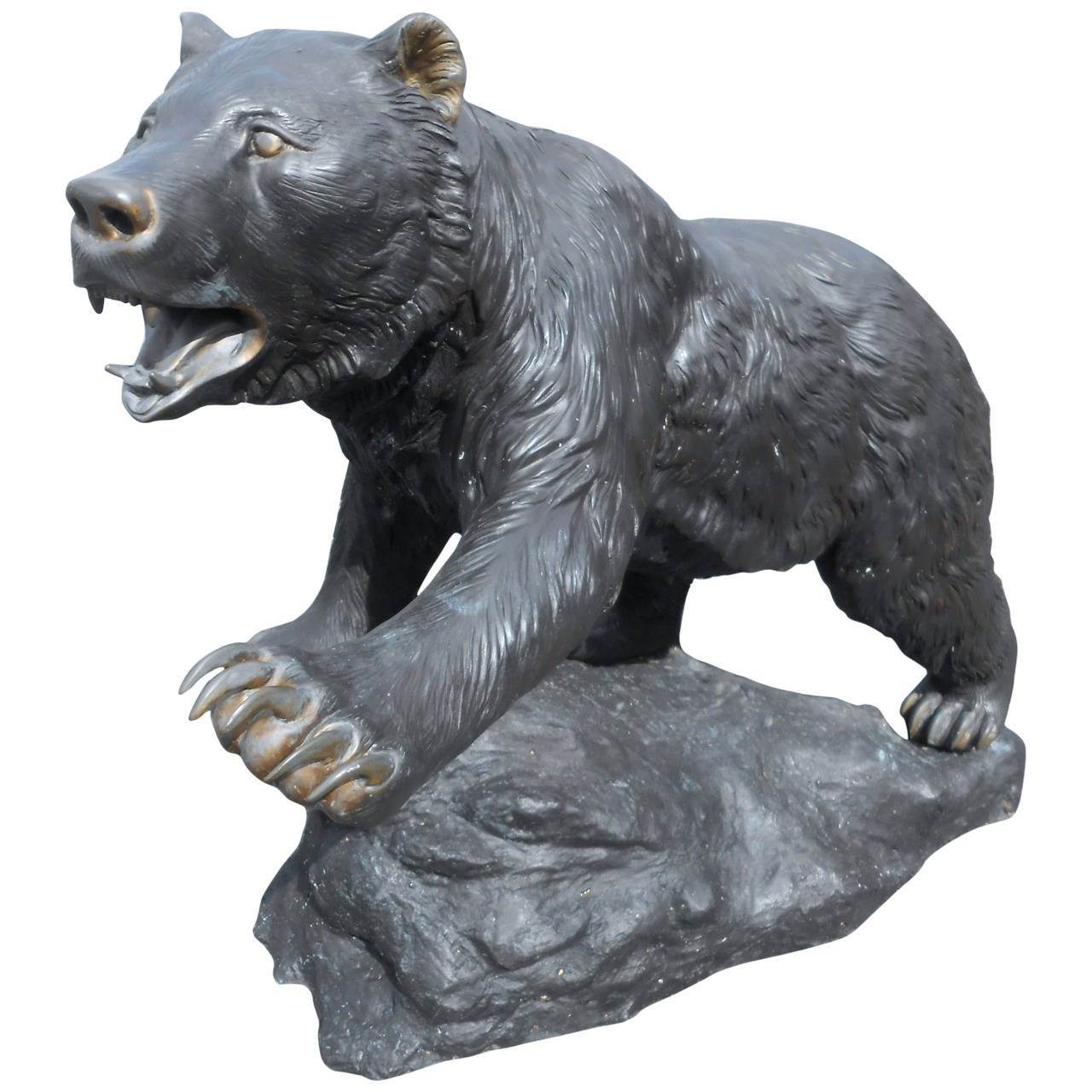 Bronze Bear Garden Estate Statue