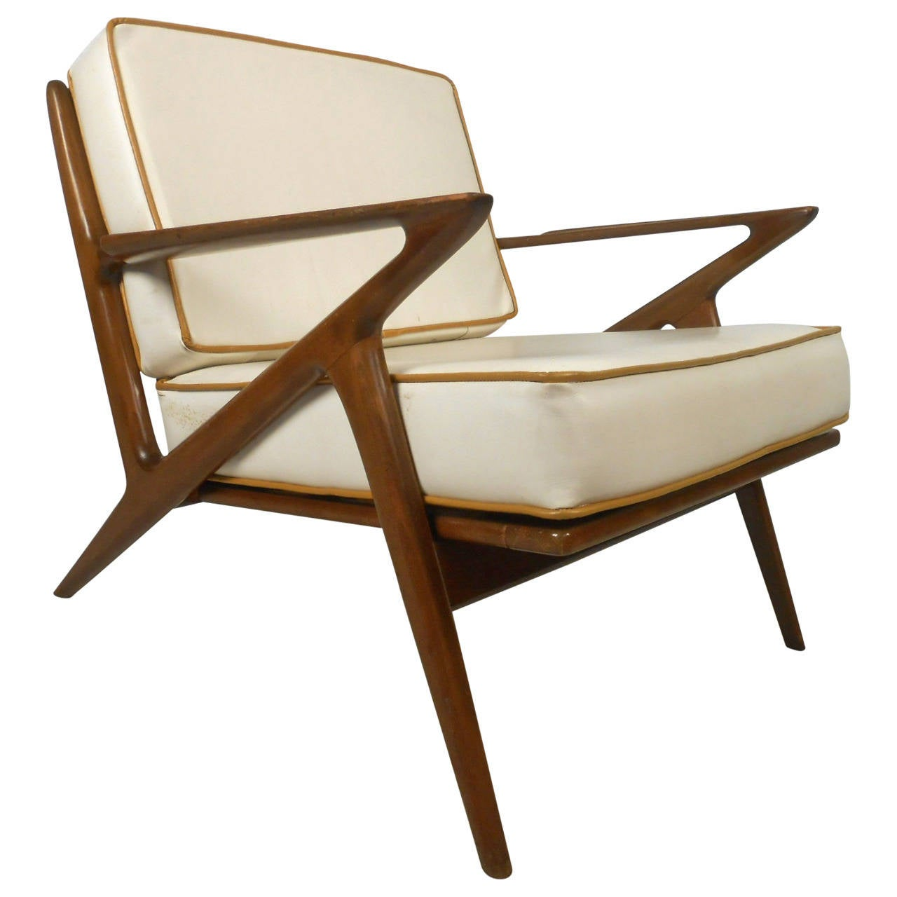 Mid century modern poul jensen style z chair at 1stdibs for Mid century modern seating
