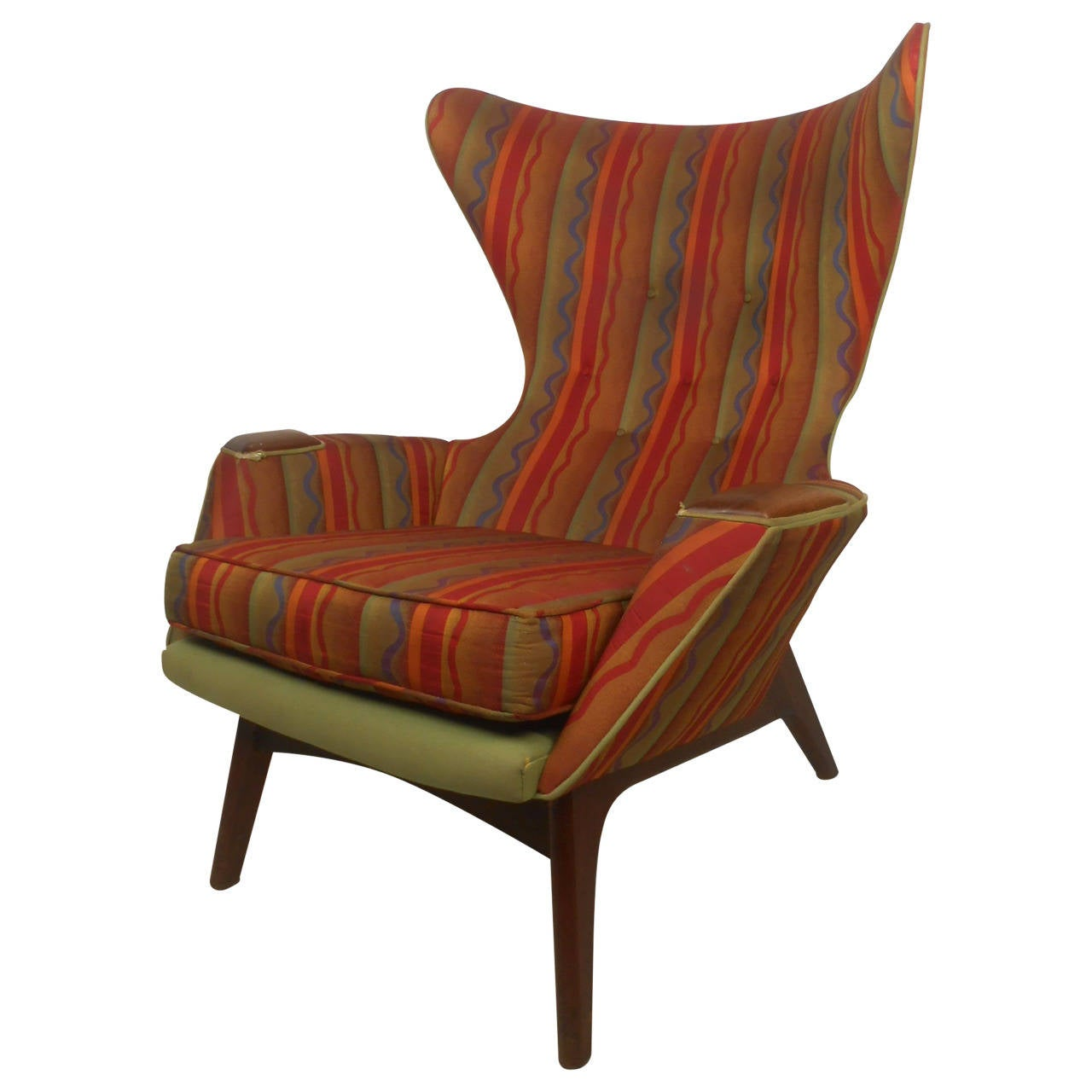 Adrian Pearsall Wingback Lounge Chair At 1stdibs
