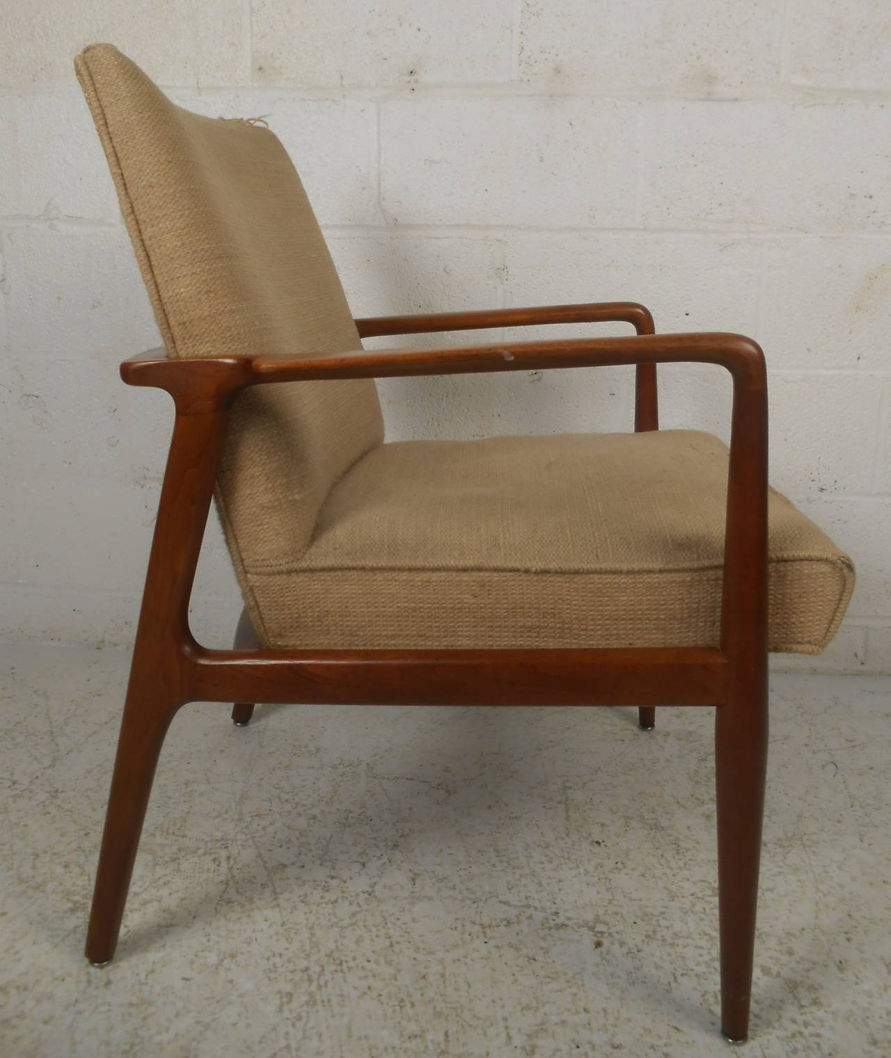 Mid Century Modern Stow Davis Walnut Chair For