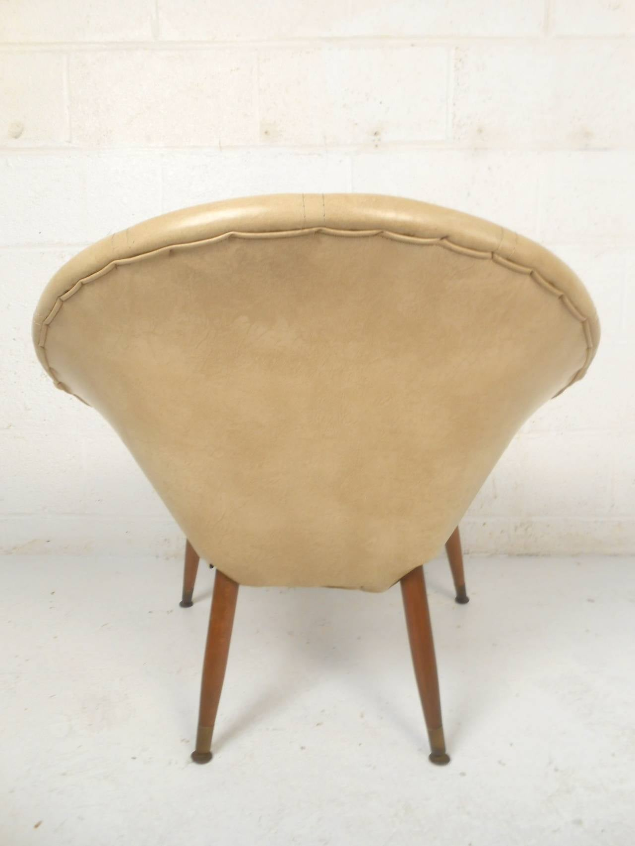 Round Midcentury Saucer Chair For Sale At 1stdibs. Full resolution‎  portraiture, nominally Width 1280 Height 1706 pixels, portraiture with #794E30.