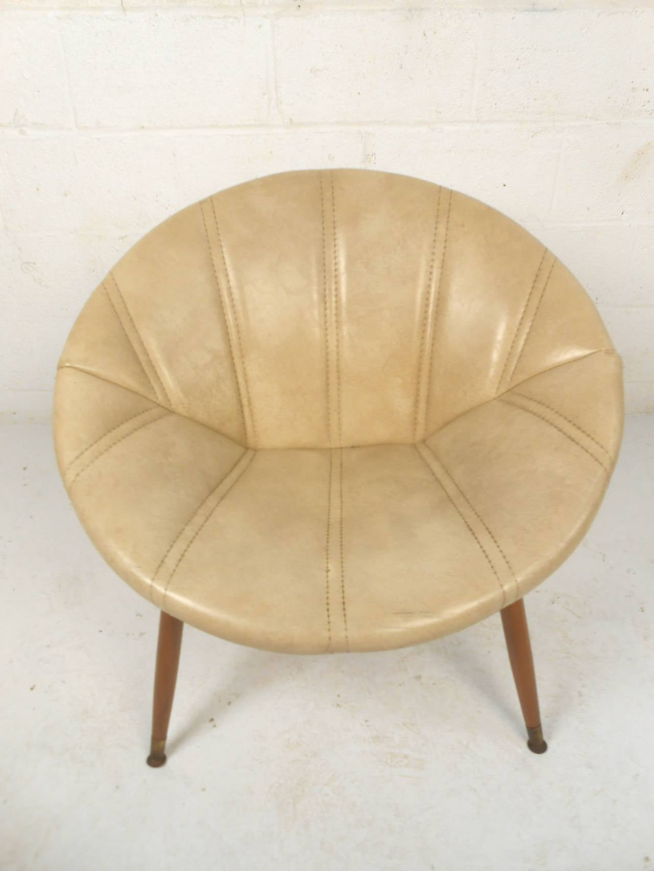 1960s Wicker Saucer Chair   Bring It On Home