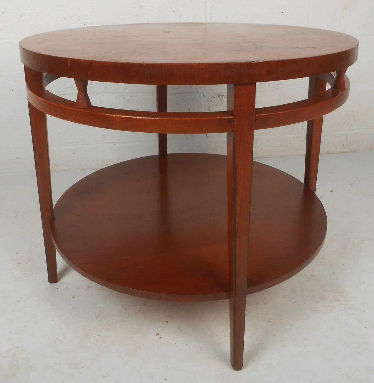 Midcentury lane style two tier round coffee table for sale for Round coffee tables for sale