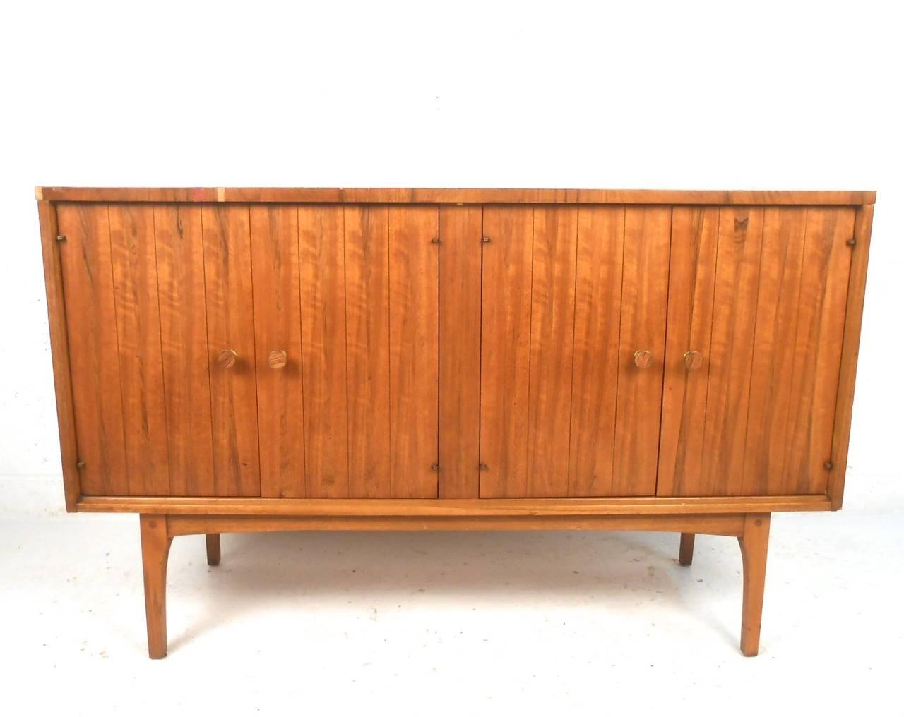 Mid Century Modern Petite Walnut Credenza By Lane Furniture At 1stdibs