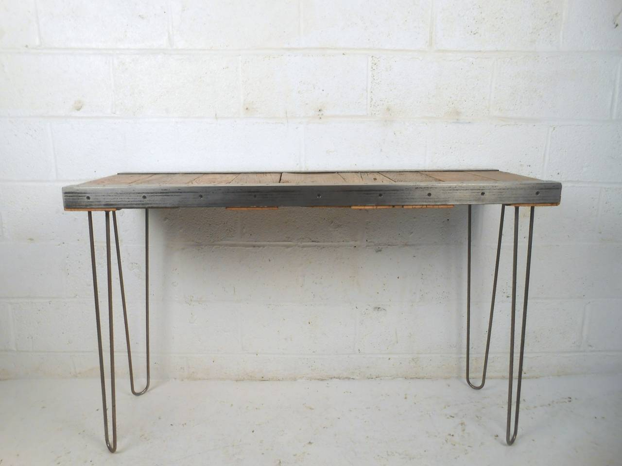 This Contemporary Style Console Table Makes A Unique Entryway Writing Desk Or