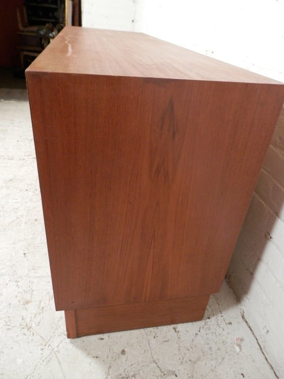 Mid Century Danish Modern Teak Dresser For Sale 3