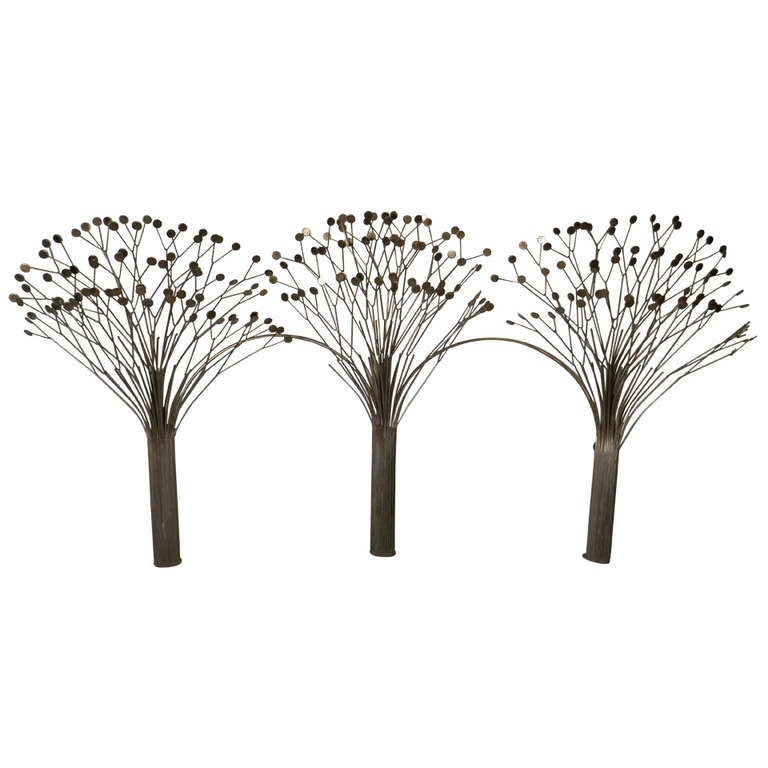 C. Jere Style Brass Trees Sculpture
