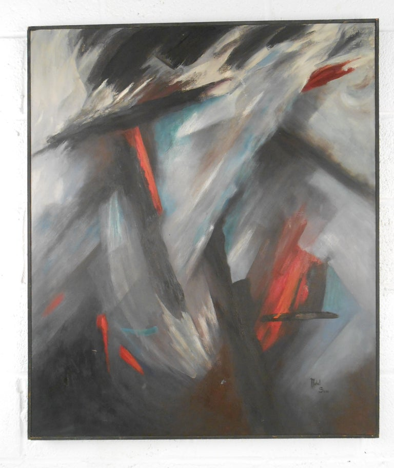 Mid-Century Abstract Painting, Mabel Swan  For Sale