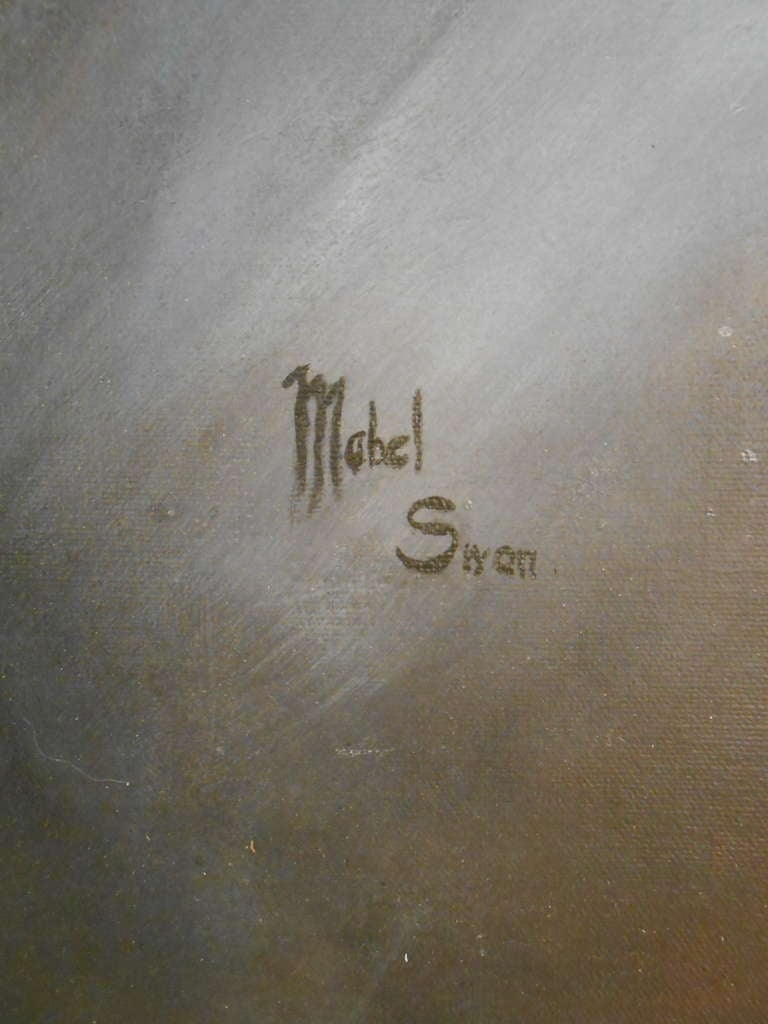 American Mid-Century Abstract Painting, Mabel Swan  For Sale