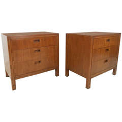 Pair of Mid-Century Modern American Nightstands by Mount Airy Furniture Company