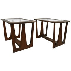 Pair of Mid-Century Modern Walnut Side/End Tables