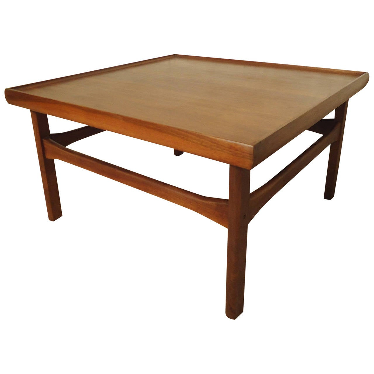 mid century modern square coffee table for sale at 1stdibs. Black Bedroom Furniture Sets. Home Design Ideas