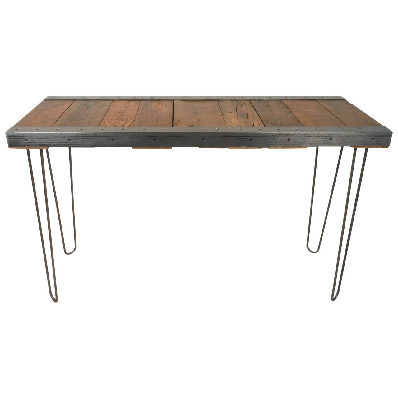 Industrial Modern Console Table with Hairpin Legs For Sale at 1stdibs