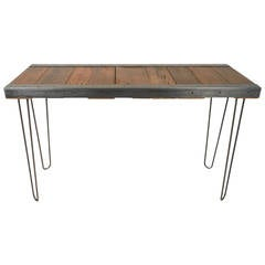 Industrial Console Table with Hairpin Legs