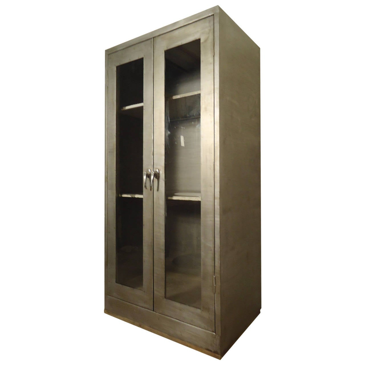 Large industrial double door cabinet for sale at 1stdibs for Oversized exterior doors for sale