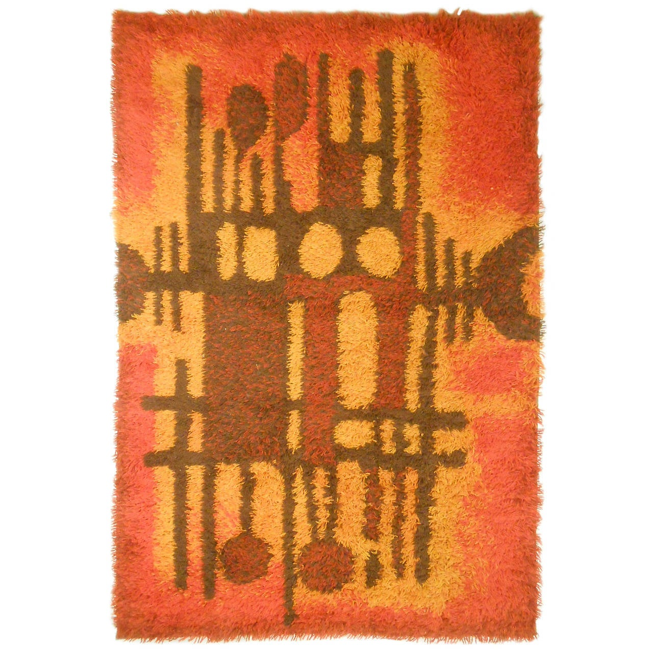 Mid Century Modern Area Rug By Ege Rya For Sale At 1stdibs