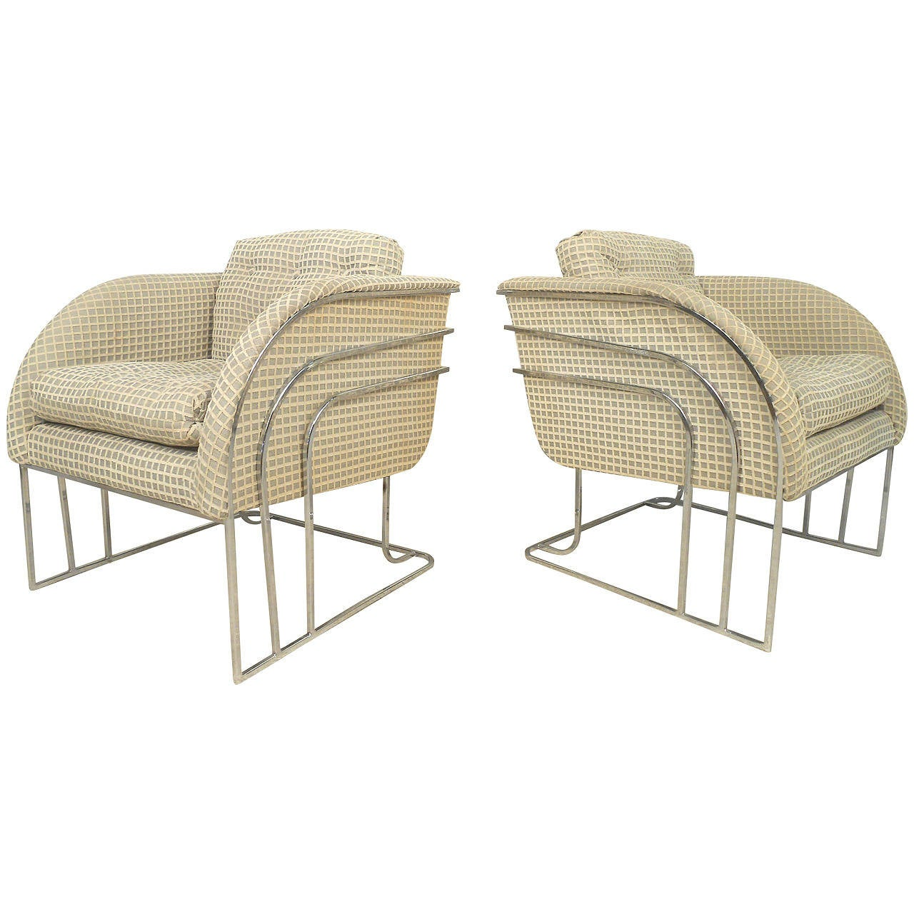 Pair Of Vintage Modern Accent Chairs For Sale
