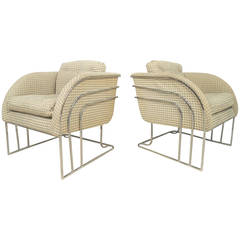 Pair of Vintage Modern Accent Chairs