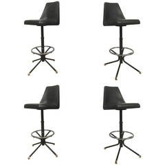 Set of Four Vintage Modern Barstools