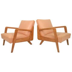 Atomic Modern Lounge Chairs, a Pair