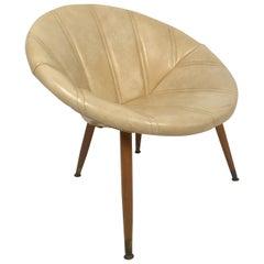 Round Midcentury Saucer Chair