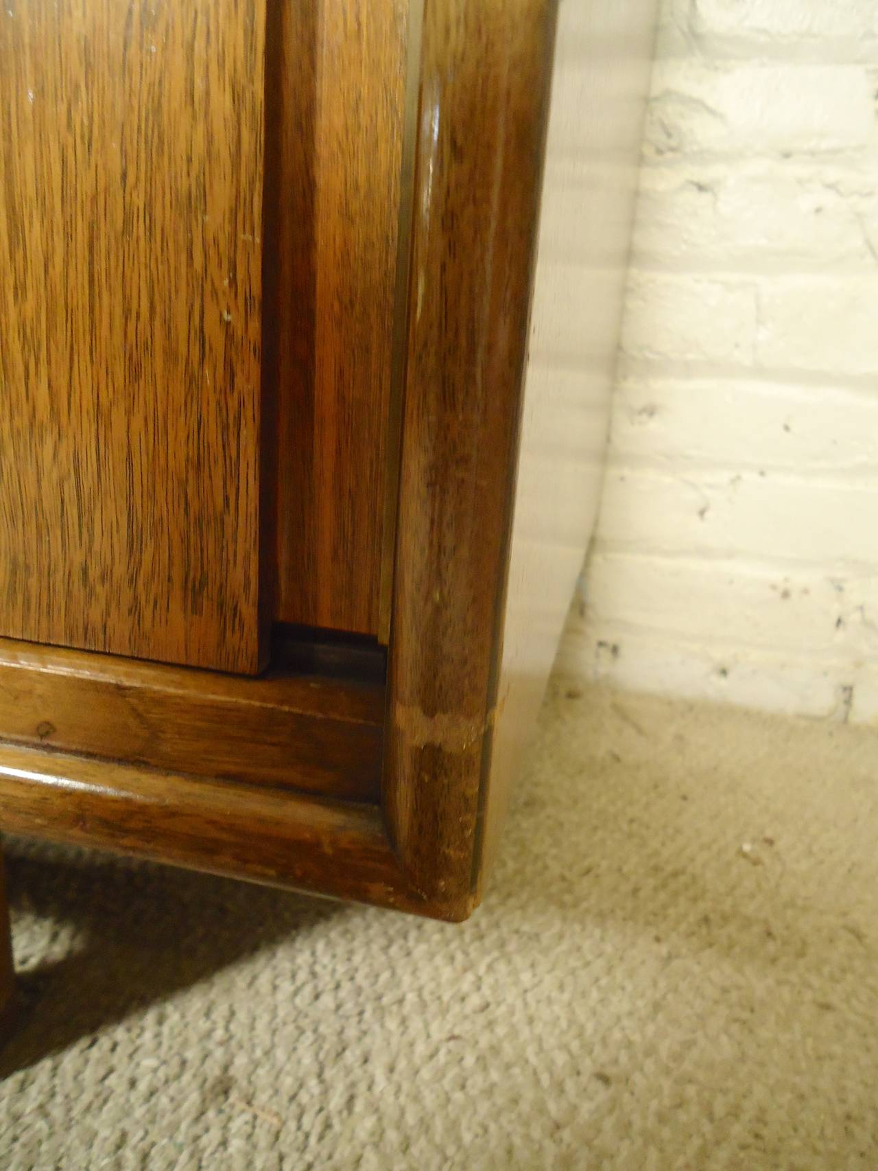 American Midcentury Credenza by Cavalier with Hidden Drawers For Sale