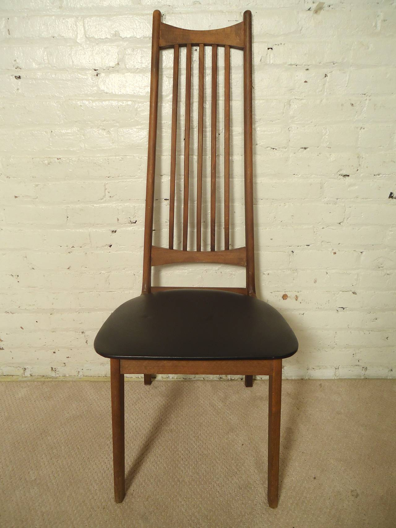 Four Midcentury High Back Chairs For Sale 1
