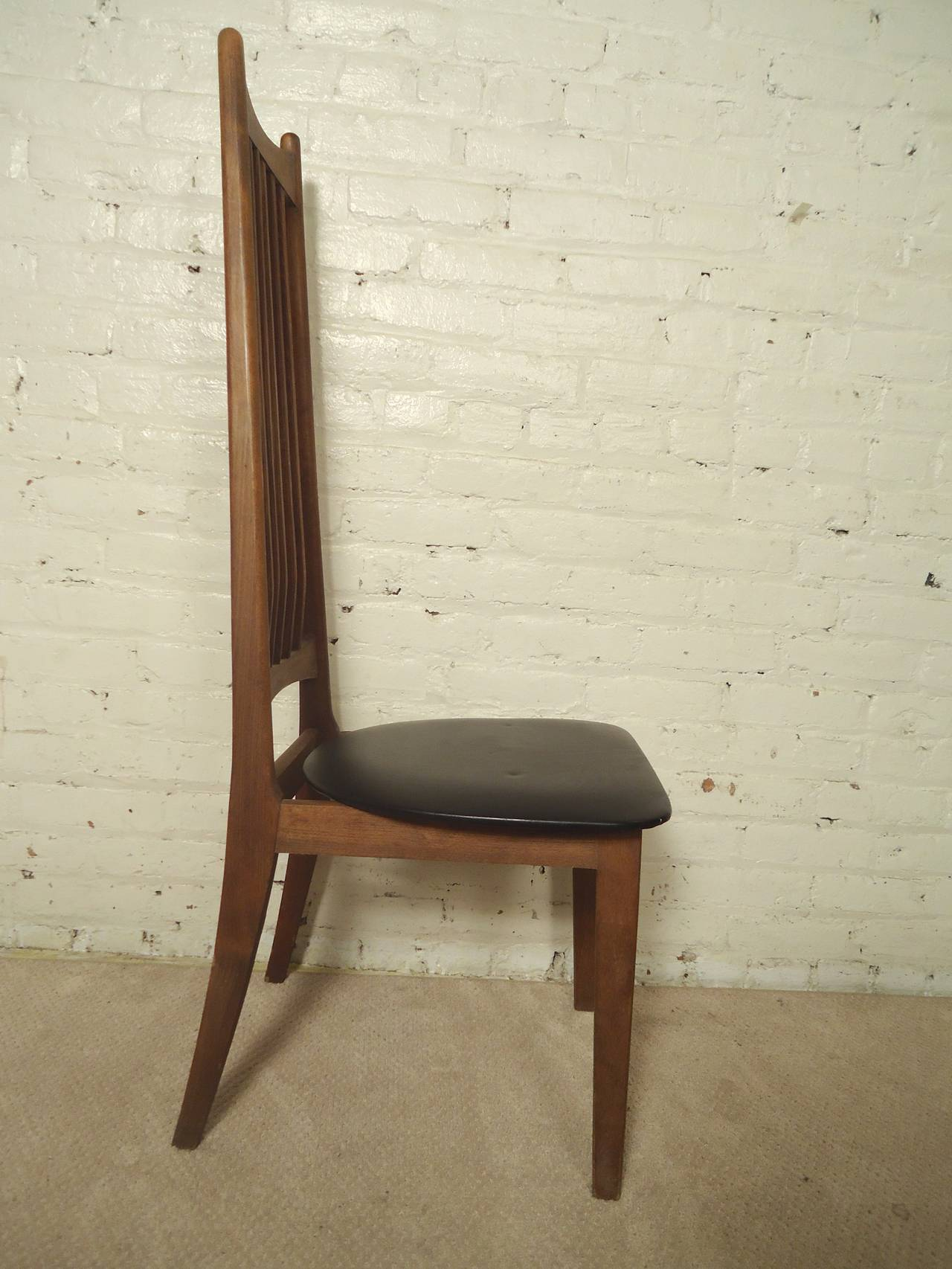 Four Midcentury High Back Chairs In Good Condition For Sale In Brooklyn, NY