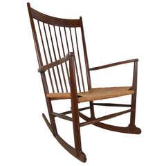 Hans Wegner J-16 Style Mid-Century Rocking Chair