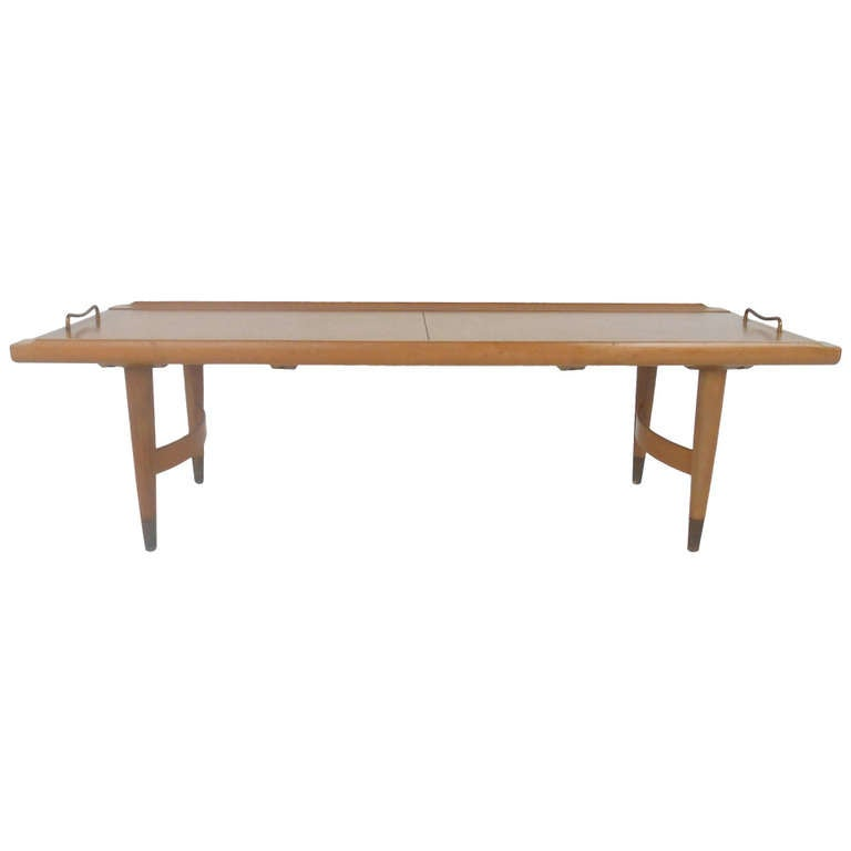 Lane Sliding Door Coffee Table: Mid-Century Modern Sliding Top Coffee Table For Sale At