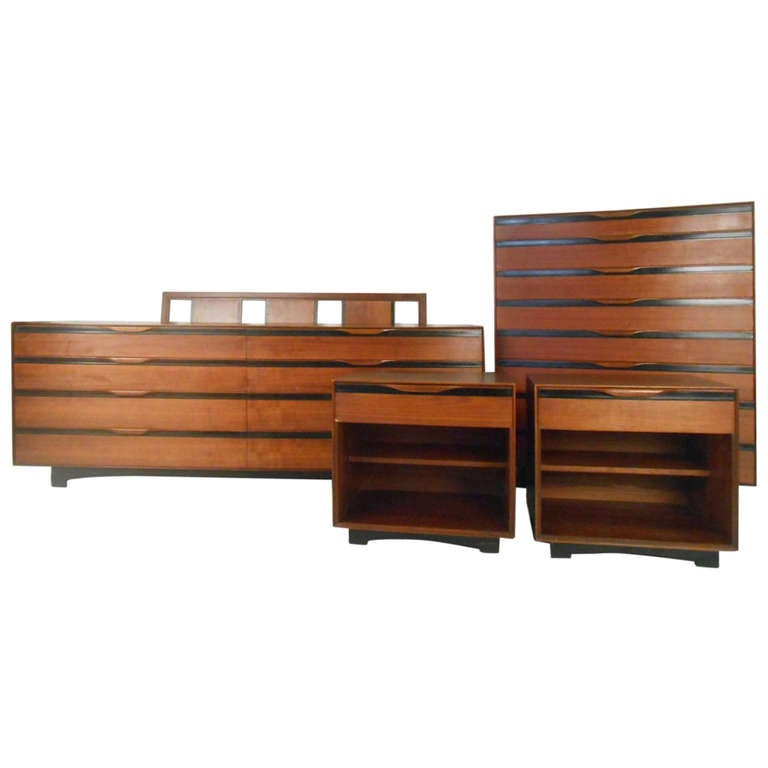John Kapel For Glenn Of California Mid Century Modern Bedroom Suite At 1stdibs
