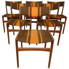 Six Erik Buch Style Teak Chairs