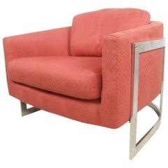 Vintage Modern Barrel Back Lounge Chair
