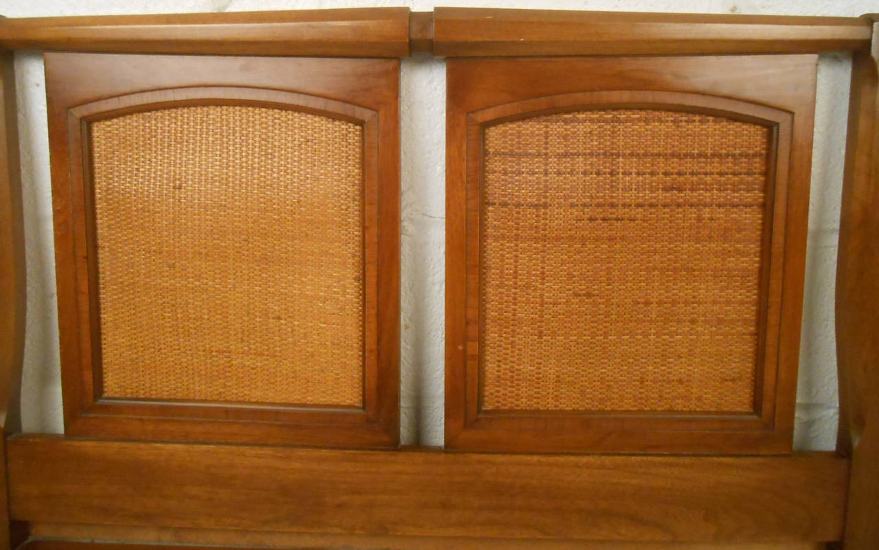 Mid-20th Century Mid-Century Modern Walnut Headboard by White Furniture Co For Sale