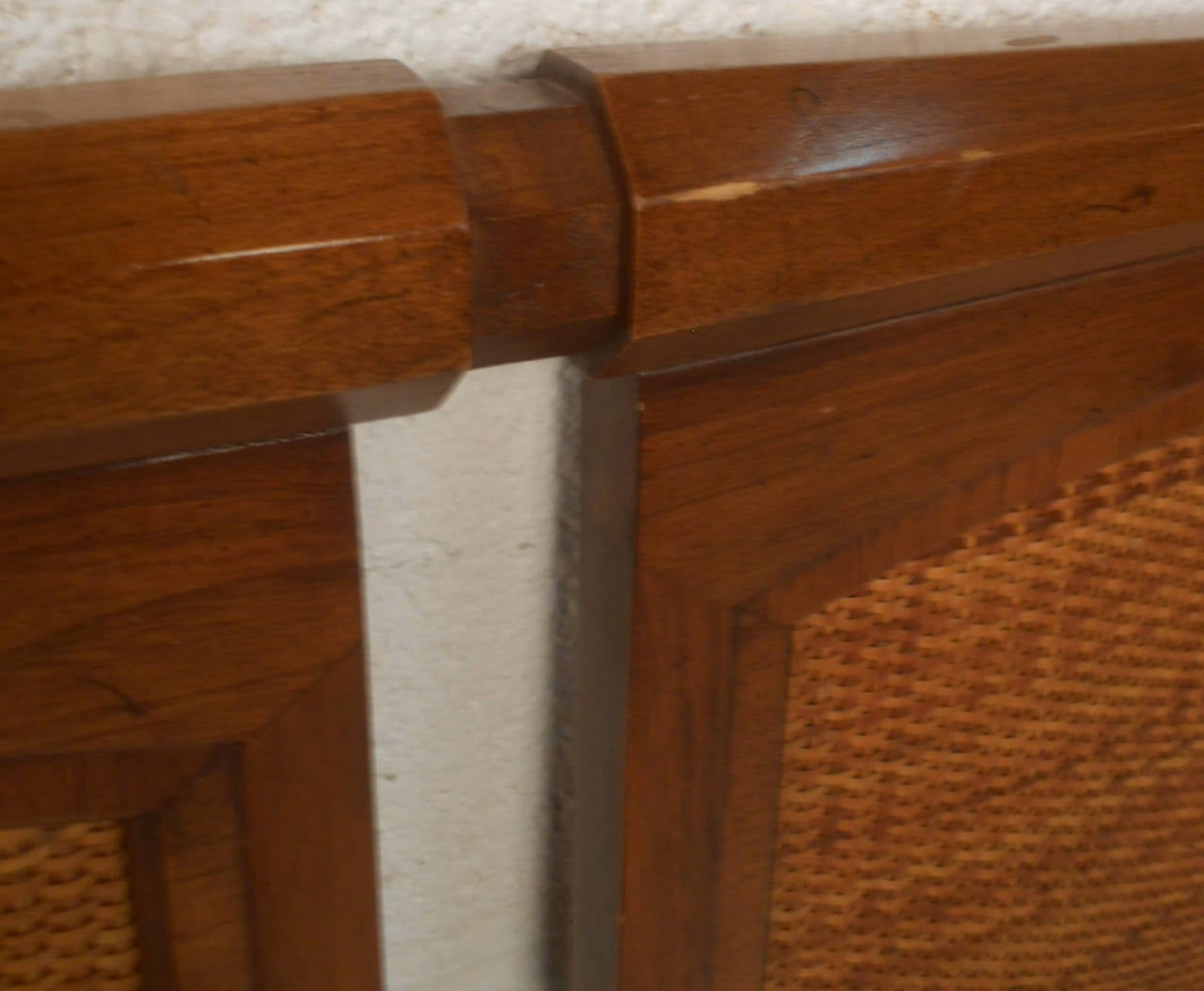 Mid Century Modern Walnut Headboard By White Furniture Co