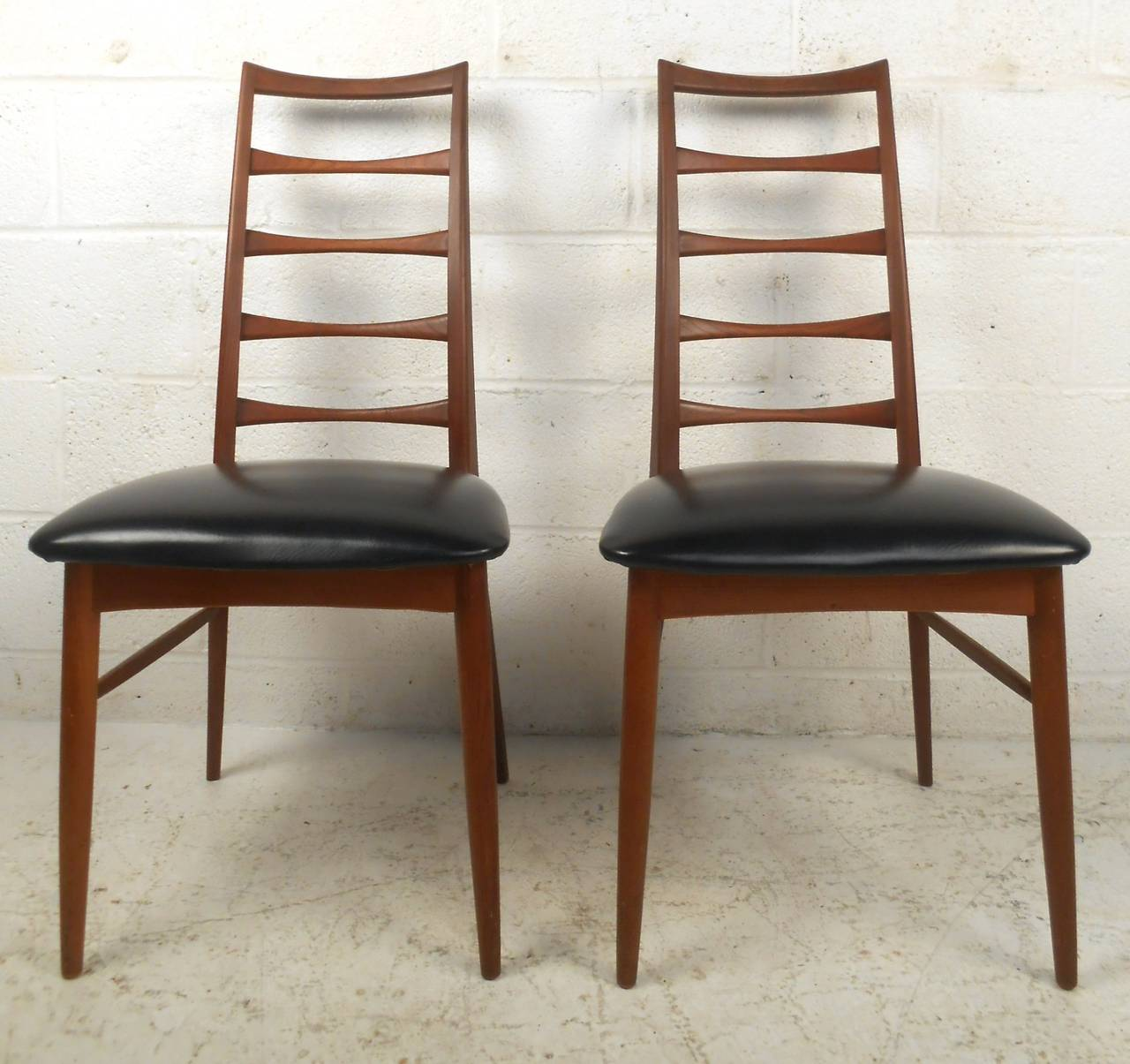 set of niels koefoed ladder back dining chairs for raymor for sale at