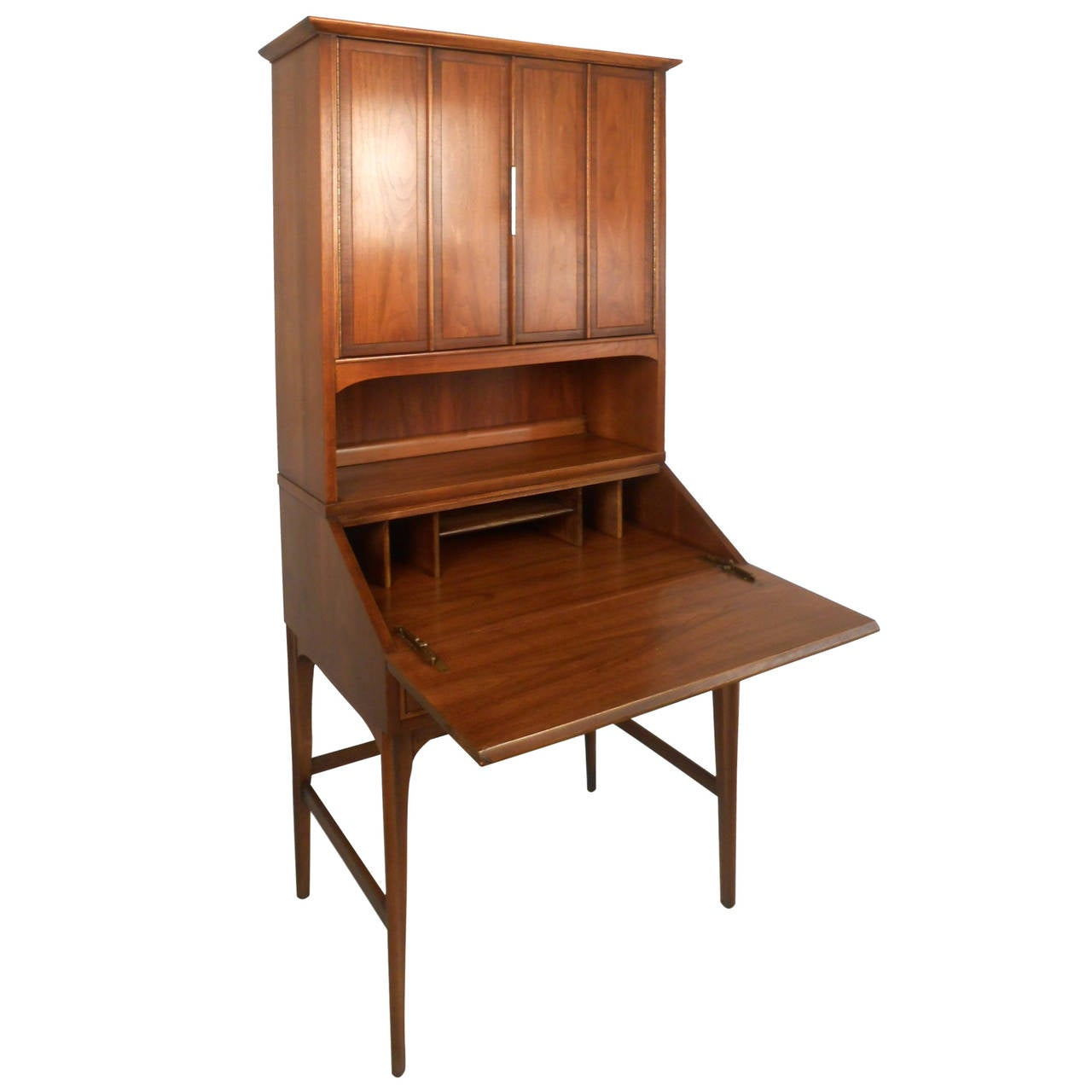 Mid century modern drexel style secretary hutch 1 drexel for Modern living room hutch