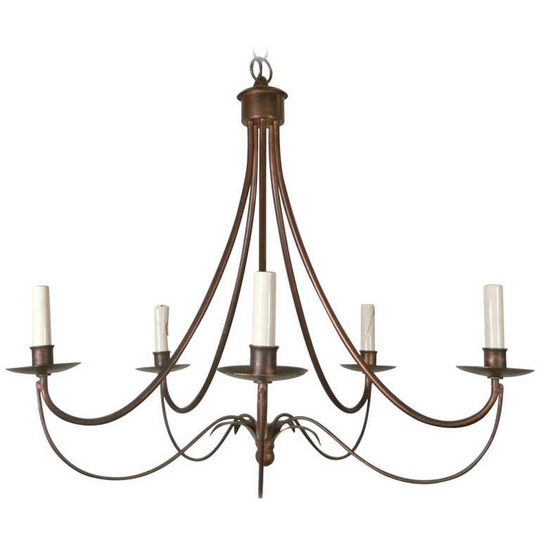 attractive mid century modern wrought iron chandelier at. Black Bedroom Furniture Sets. Home Design Ideas