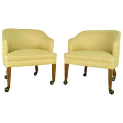 Pair of Vintage Rolling Side Chairs