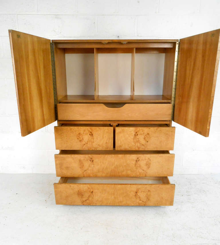 Stunning mid century burl wood bedroom set by milo Century bedroom furniture