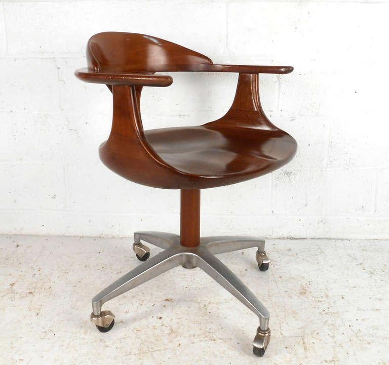 Heywood Wakefield Cherry Wood Desk Chair 2