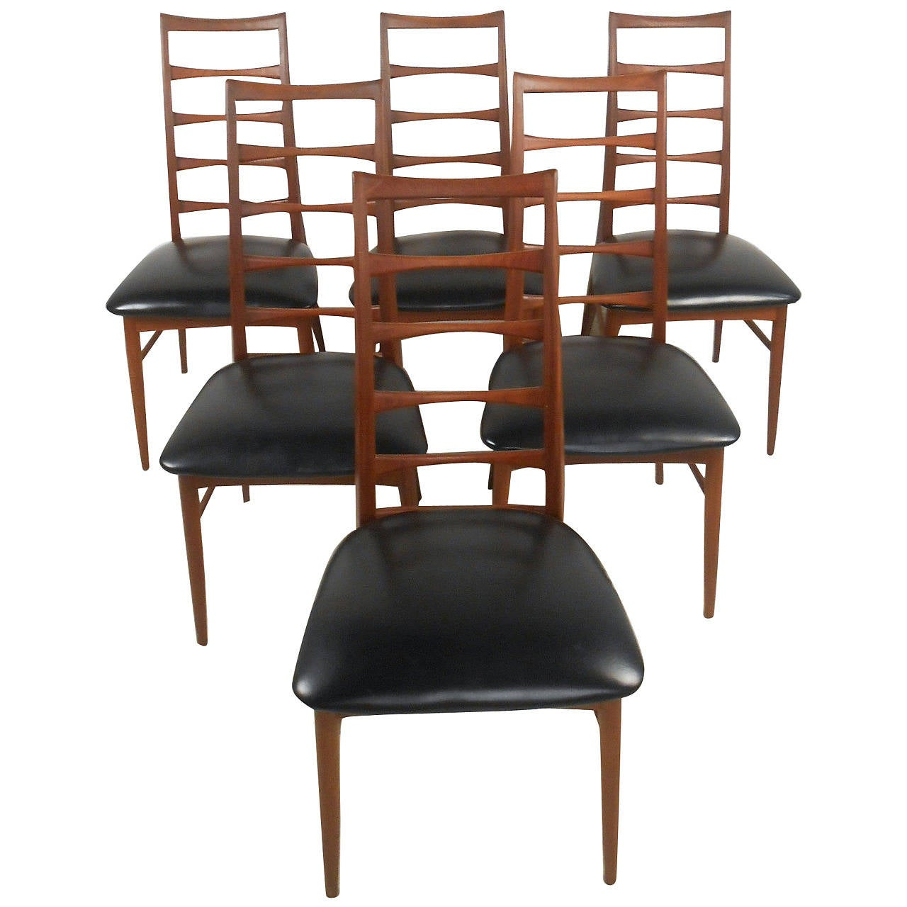Set Of Niels Kofoed Ladder Back Dining Chairs For Raymor Sale