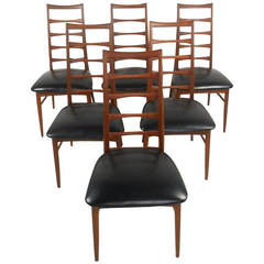 Set of Niels Kofoed Ladder Back Dining Chairs for Raymor