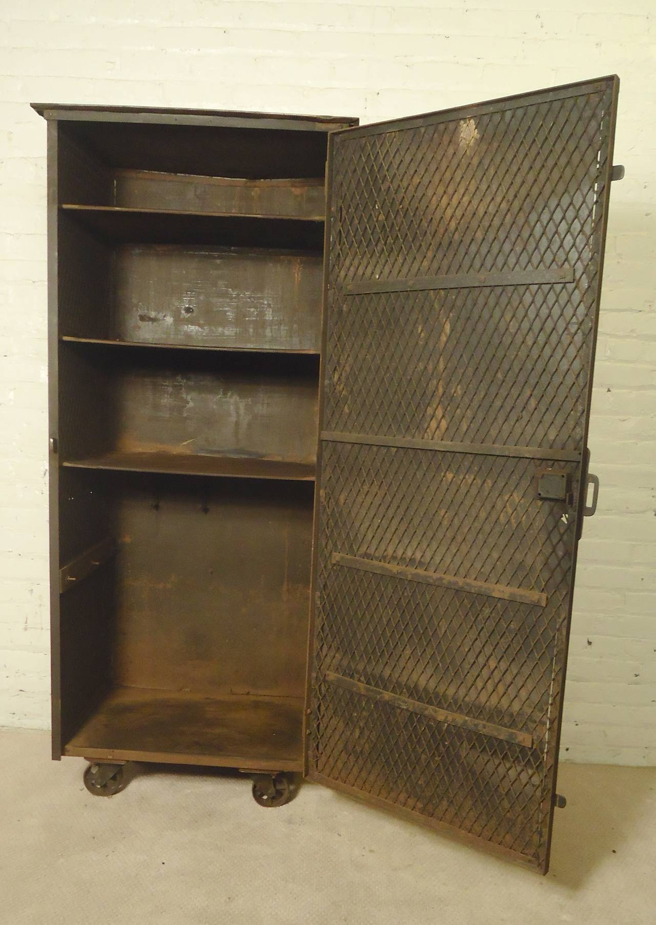 metal cabinet large metal storage cabinet for at 1stdibs 23225